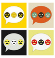 emoticon set icons emoji symbols isolated on vector image