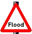 Flood Traffic Sign vector image vector image