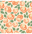 floral rose seamless pattern vector image