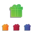 Gift box sign Colorfull applique icons set vector image vector image