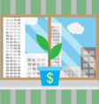 Growth of business start-up in good conditions vector image