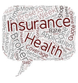 Health Insurance And Insurance Brokers text vector image vector image