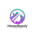 home beauty logo design template icon symbol