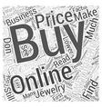 how to buy jewelry wholesale online Word Cloud vector image vector image