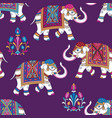 indian elephants pattern vector image