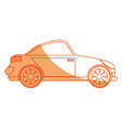 isolated sport car vector image vector image