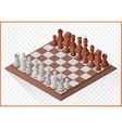 Isometric chess piece chessmen vector image