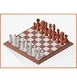 Isometric chess piece chessmen vector image vector image