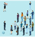 isometric people with loudspeaker vector image