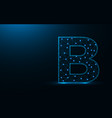 letter b low poly design alphabet abstract vector image vector image