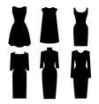 little black dress designs set vector image