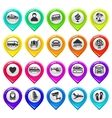 Map marker with icons-set six vector | Price: 1 Credit (USD $1)