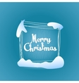 Merry Christmas quadrate greeting card vector image