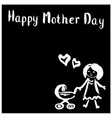mom with strollerhappy mothers day vector image