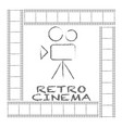 movie retro posters and flyer vintage cinema vector image