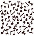 music note heart bird vector image vector image