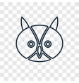 owl concept linear icon isolated on transparent vector image