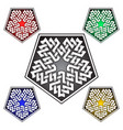 pentagonal logo template in celtic knots style vector image vector image
