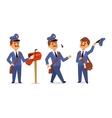Postman character set vector image vector image