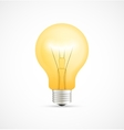 Realistic glowing yellow light bulb vector image vector image