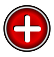 red cross icon vector image vector image