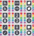 RSS DVD Leaf Trash can Smartphone Reload Brush vector image vector image