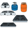 set of gas stove vector image vector image