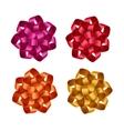 Set of Red Orange Yellow Pink Gift Ribbon Bows