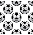 Smiling football balls seamless pattern vector image vector image