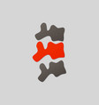 spine diagnostics symbol design spine pain vector image vector image