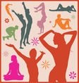 Sport people silhouettes vector image