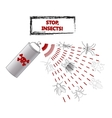 Spray against insects insecticides anti vector image