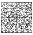 textile pattern is a german renaissance design vector image vector image