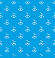 tooth d printing pattern seamless blue vector image vector image