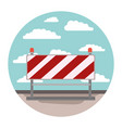 traffic barrier in circular shape colorful vector image vector image