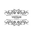 vintage border frame design element template vector image