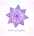 Violet watercolor snowflake vector image vector image