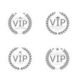 vip label set vector image vector image