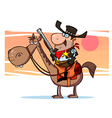 Western Sheriff On Horseback In Front Of A Sunset vector image vector image