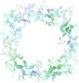 Spring background wreath with mint green leaves vector image