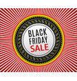 black friday sale banner advertising poster vector image