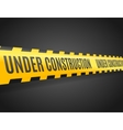 Under Construction Line with Text vector image