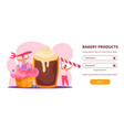 bakery products website vector image vector image