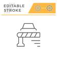 barrier editable stroke line icon vector image