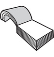 Blank notepad vector image vector image