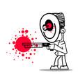 boy killer in a mask with a shotgun vector image