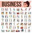 business people set office lifestyle vector image vector image