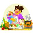 busy mom vector image vector image