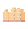 carton box pallet flat warehouse cardboard vector image