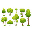 cartoon green tree environmental forest or park vector image